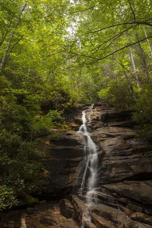 Waterval in Zuid-Carolina stock afbeelding