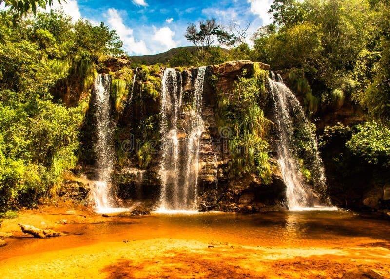 Watervallen in amboro parc, in Bolivië royalty-vrije stock foto's