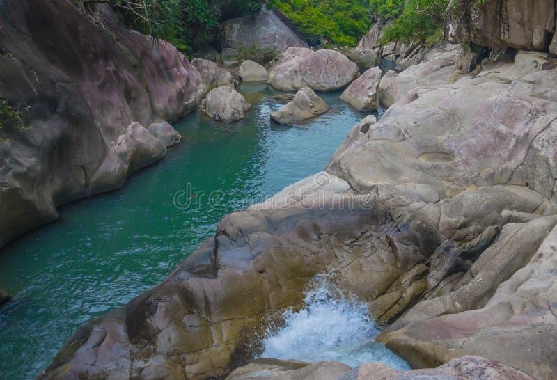 Watervallen BaHo in Vietnam royalty-vrije stock afbeeldingen