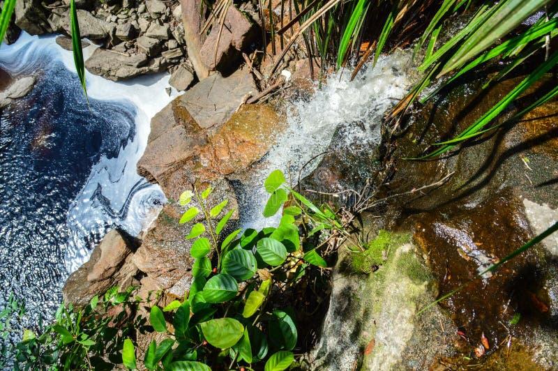 Watervallen in Bokor-Berg stock foto's