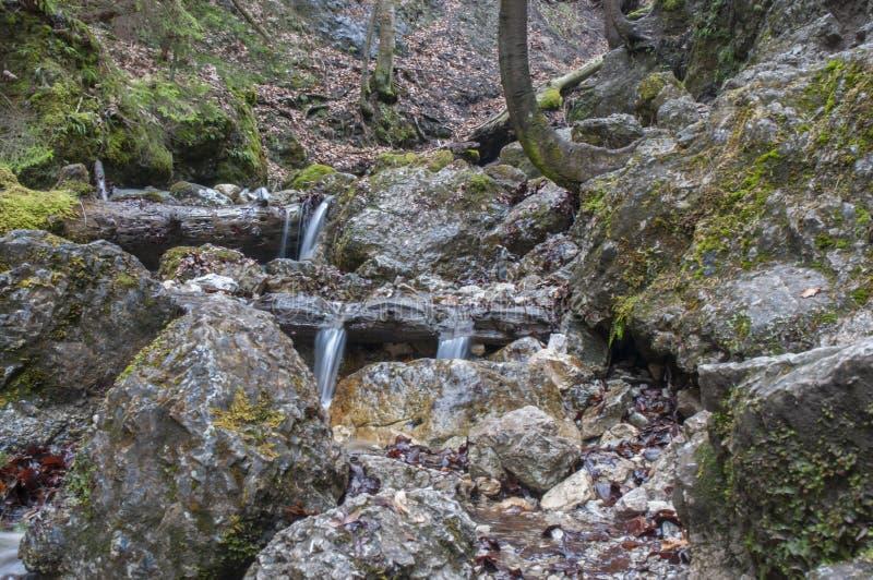 Watervallen in Hoge Tatras royalty-vrije stock afbeeldingen