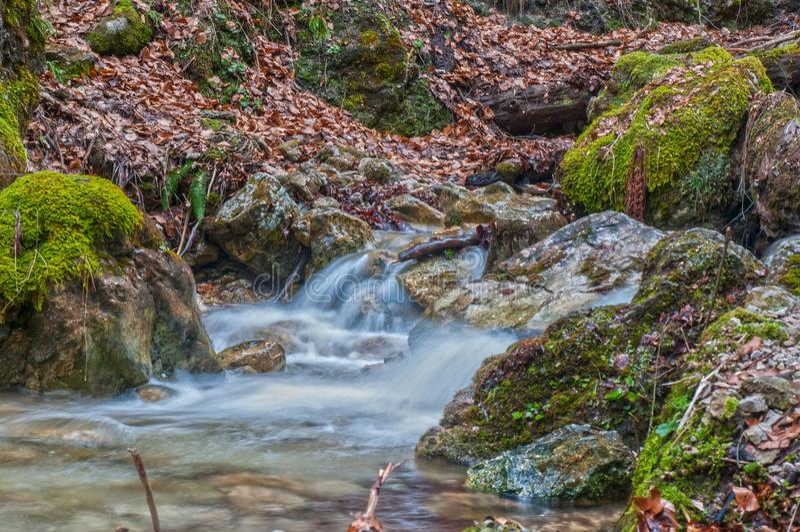 Watervallen in Hoge Tatras royalty-vrije stock foto's