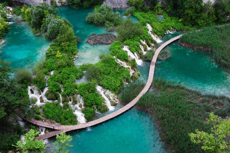 Watervallen in Nationaal Park Plitvice royalty-vrije stock foto's