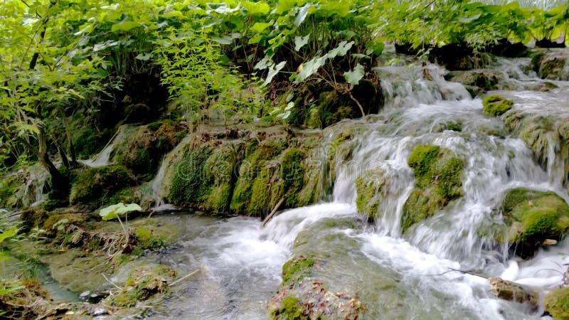 Watervallen in Nationaal Park Plitvice stock afbeeldingen