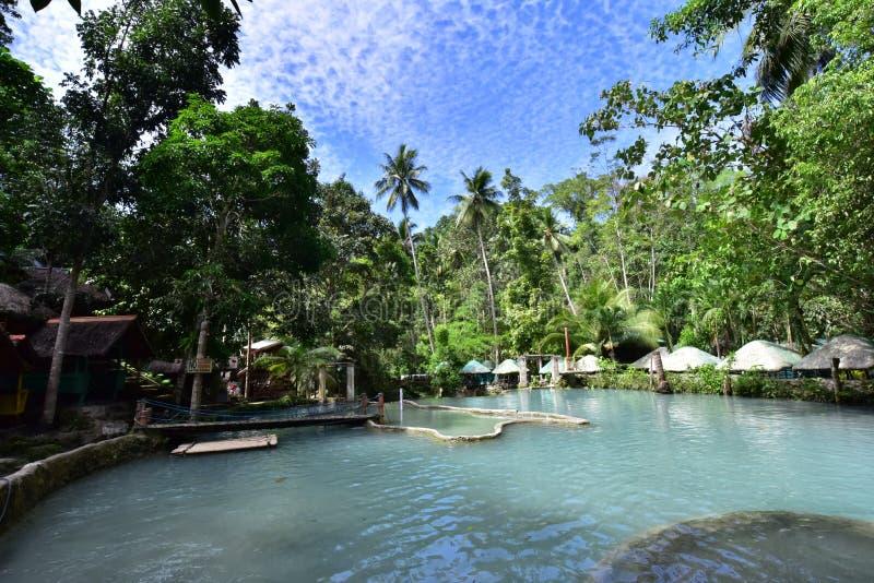 Watervallen in Samal Island, Filippijnen stock afbeelding
