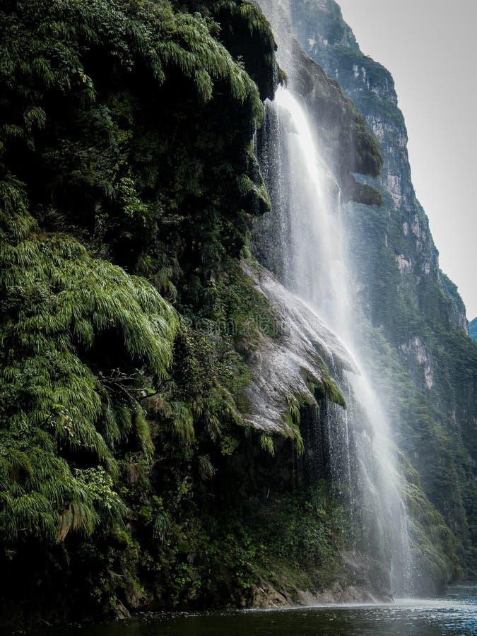 Watervallen in Sumideros-Canion - Mexico royalty-vrije stock foto