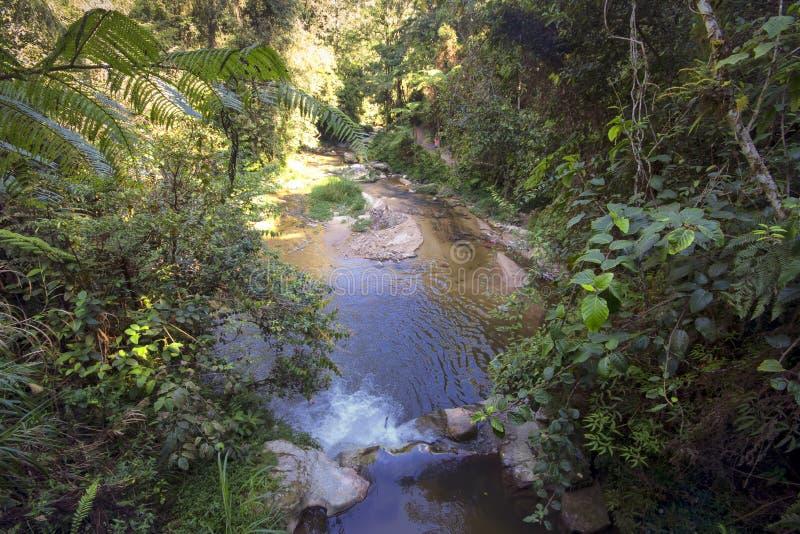 Watervallen van hierboven stock afbeeldingen