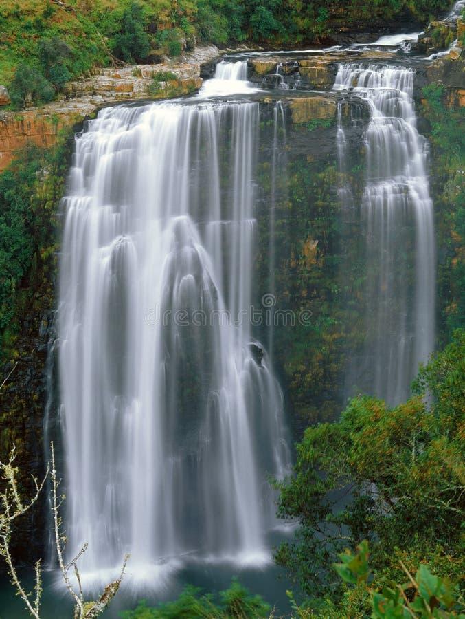 Watervallen in Zuid-Afrika stock afbeelding