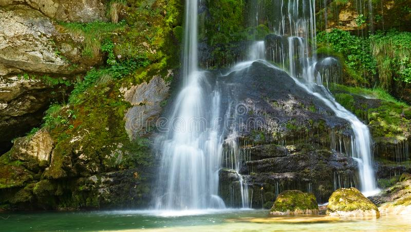 Watervaltik virje in Slovenië stock foto