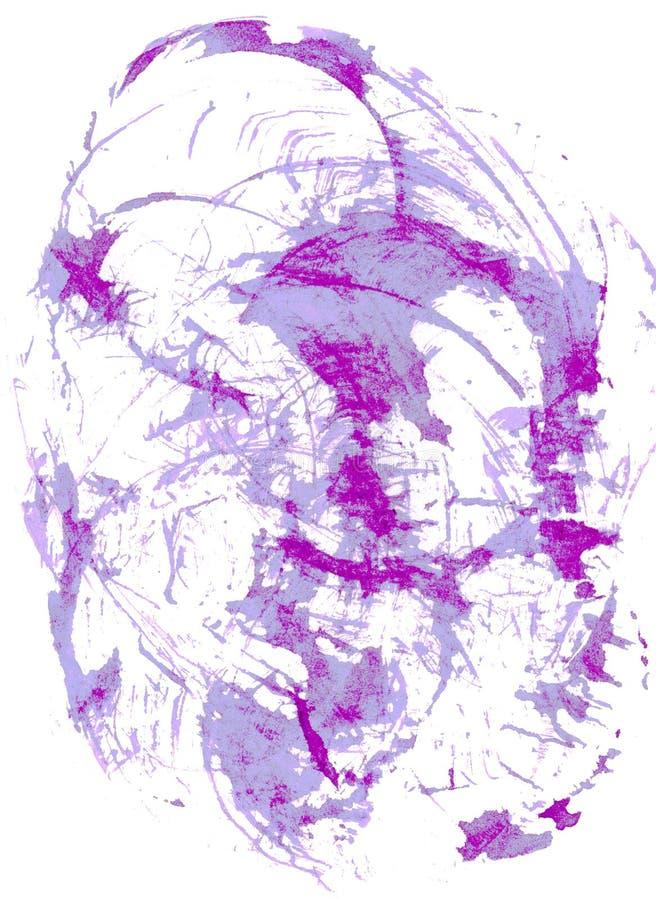 Waterverf abstracte grijze en violette achtergrond stock illustratie