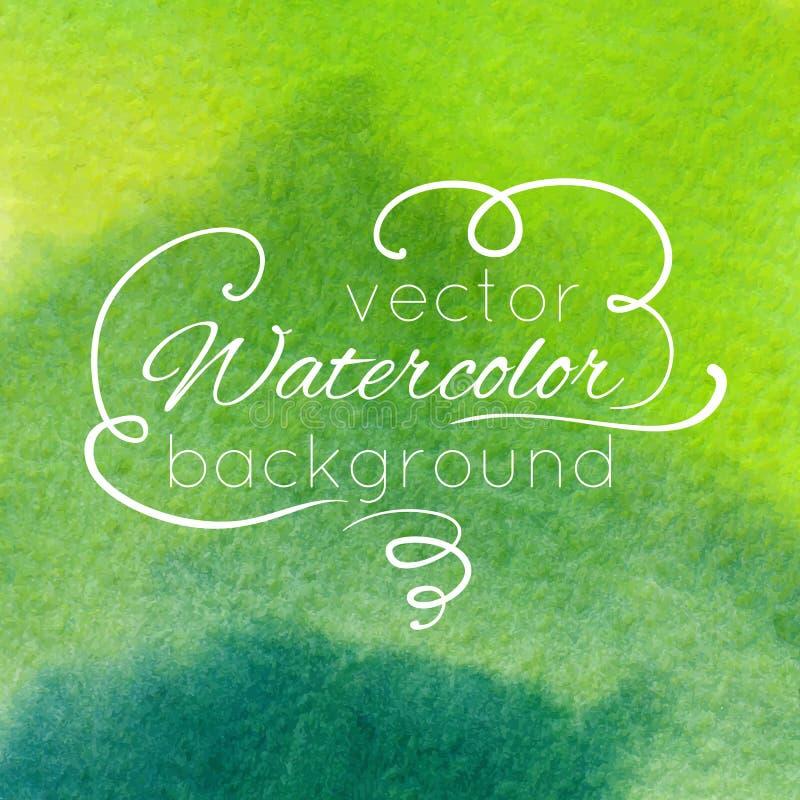 Waterverf abstracte kleurrijke geweven achtergrond royalty-vrije illustratie