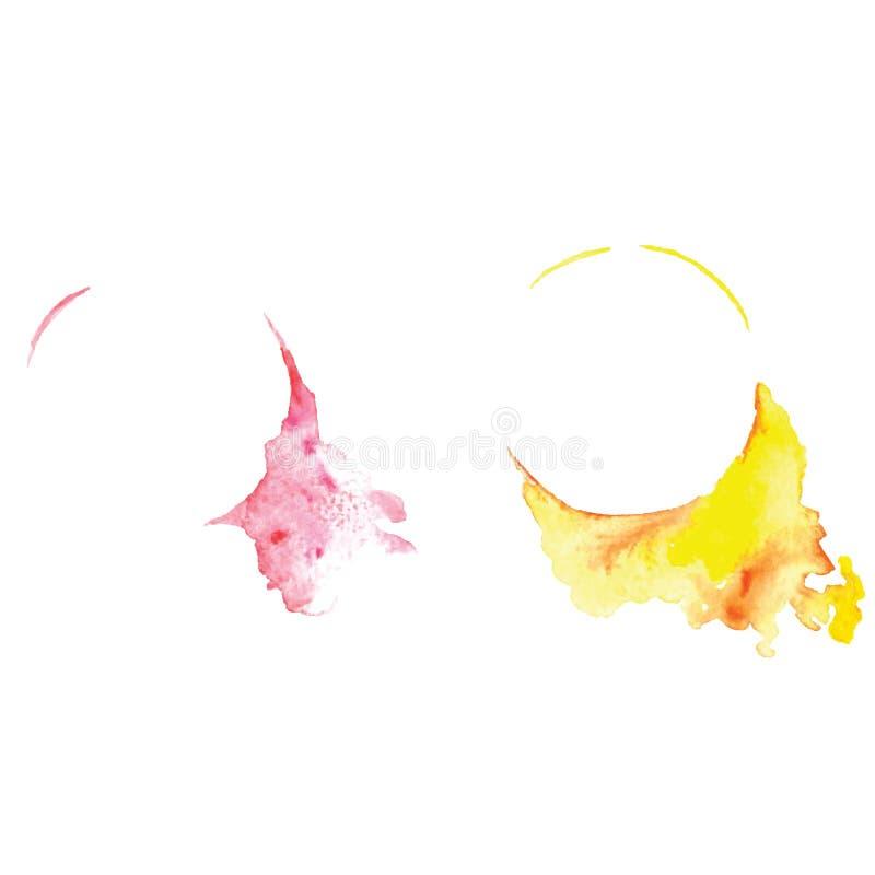 Waterverf abstracte vectorbanner met plons, grafic element, creatieve kunst, waterverf baner, royalty-vrije illustratie