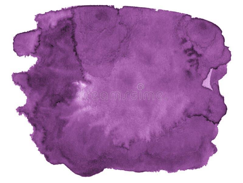 Waterverf achtergrond in kleurendahlia met scherpe grenzen en scheidingen De vlekken van de waterverfborstel Met exemplaarruimte stock illustratie