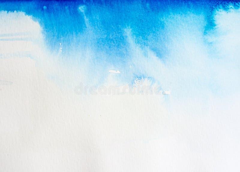 Waterverf achtergrondhemel royalty-vrije stock afbeelding