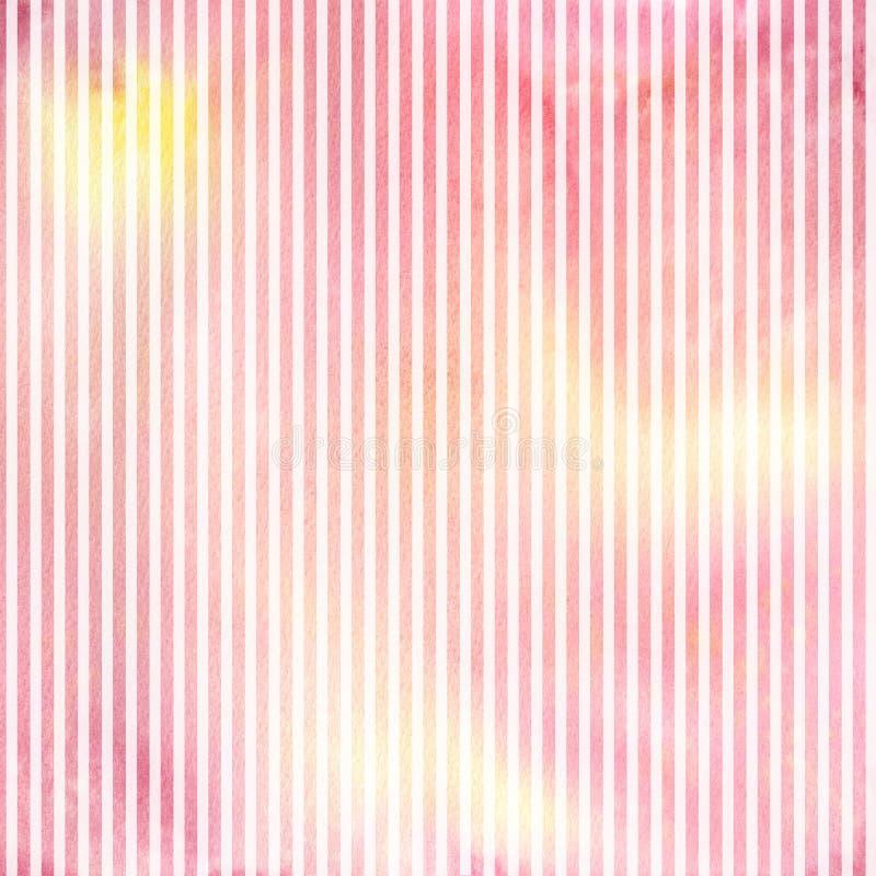Waterverf achtergrondpatroon met strepen vector illustratie