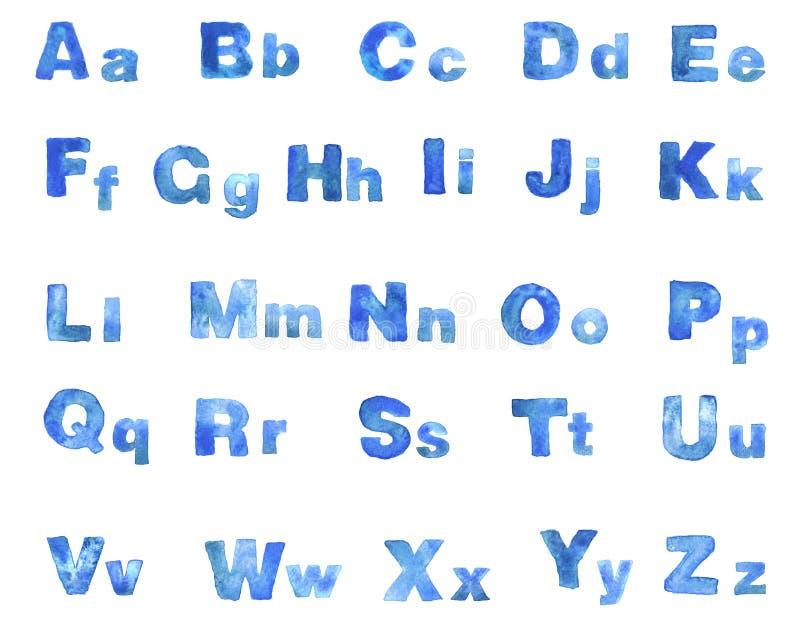 Waterverf blauwe doopvont vector illustratie