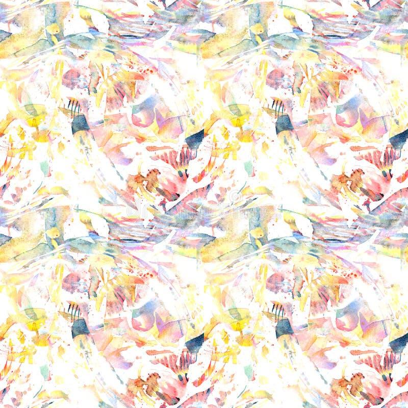 Waterverf etnisch naadloos patroon stock illustratie