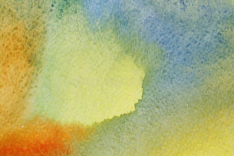 Waterverf gekleurde achtergrond stock illustratie