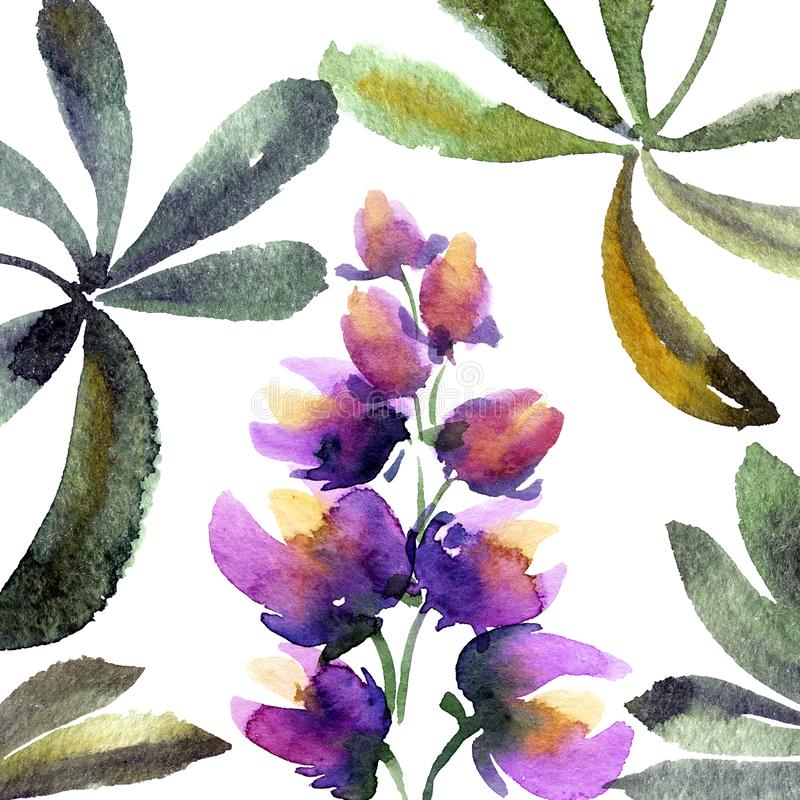 Waterverf geschilderde lupines vector illustratie