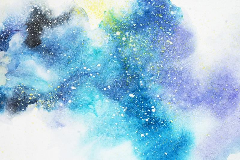 Waterverf het abstracte schilderen De tekening van de waterkleur De kleurrijke achtergrond van de vlekkentextuur vector illustratie