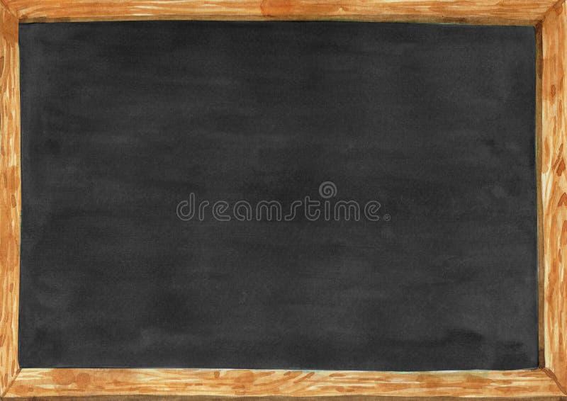 Waterverf houten school board2 vector illustratie