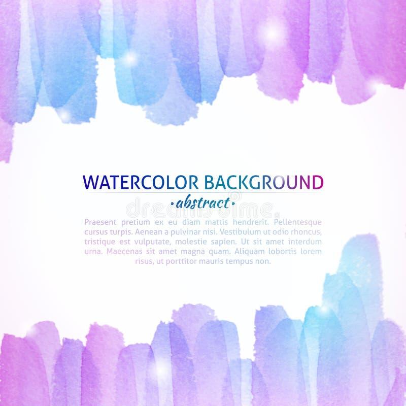Waterverf kleurrijke abstracte achtergrond vector illustratie