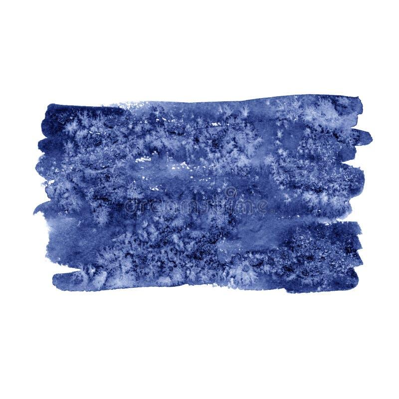 Waterverf kleurrijke ronde vlek Watercolour het schilderen Hoogst gedetailleerde blauwe vlek vector illustratie