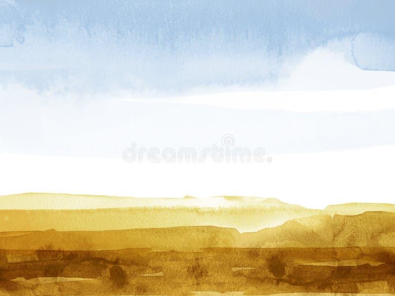 Waterverf mountainscape royalty-vrije illustratie