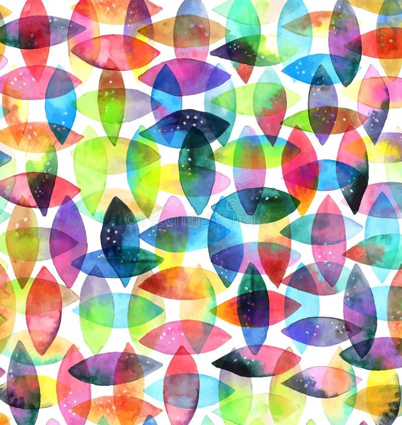 Waterverf naadloos abstract hand-drawn patroon royalty-vrije illustratie