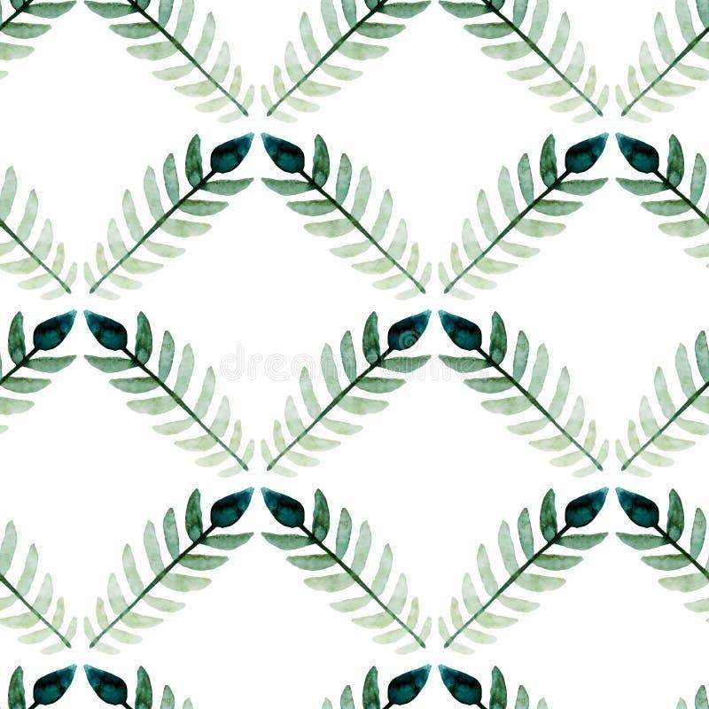 Waterverf naadloos patroon royalty-vrije illustratie