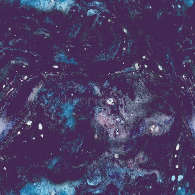 Waterverf naadloos uitstekend patroon Getrokken hand royalty-vrije illustratie