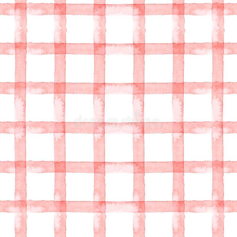 Waterverf naadloze roze strook als achtergrond, kooi op witte achtergrond vector illustratie