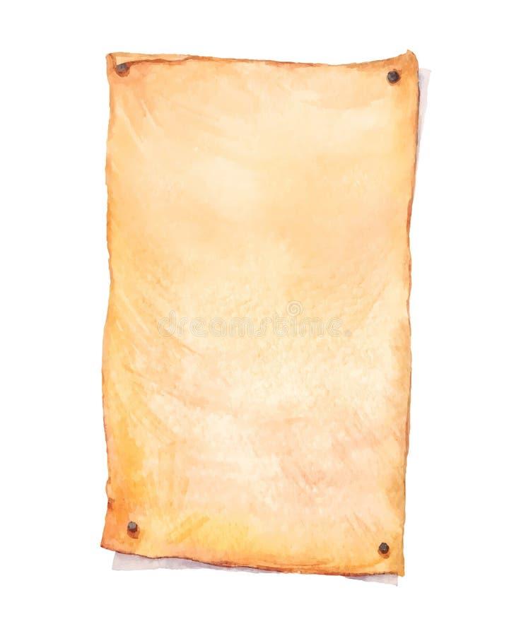 Waterverf oud document stock foto