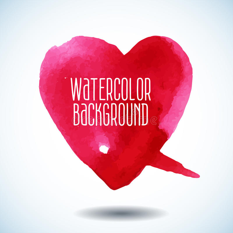 Waterverf roze hart stock illustratie