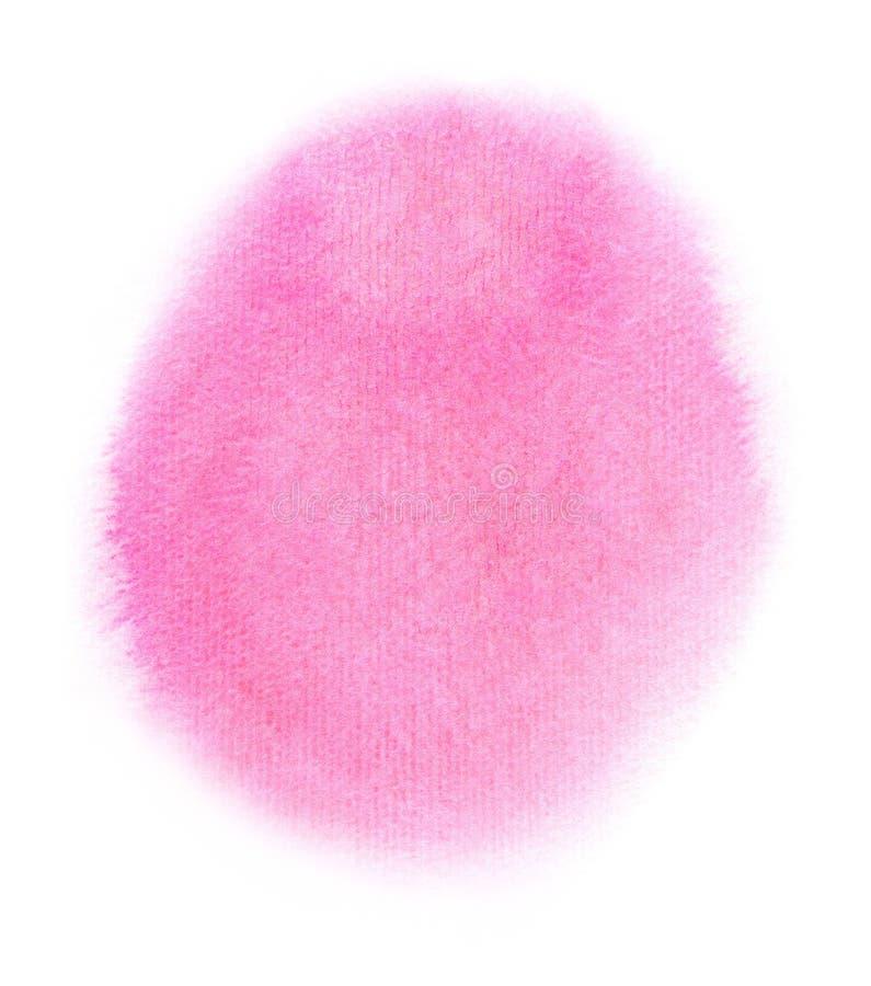 Waterverf roze vlek vector illustratie