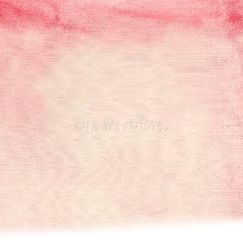 Waterverf tedere uitstekende roze achtergrond Ideaal voor kaarten en uitnodigingen royalty-vrije illustratie