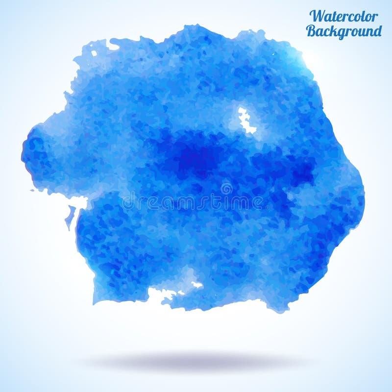Waterverf vector met de hand gemaakte achtergrond. vector illustratie