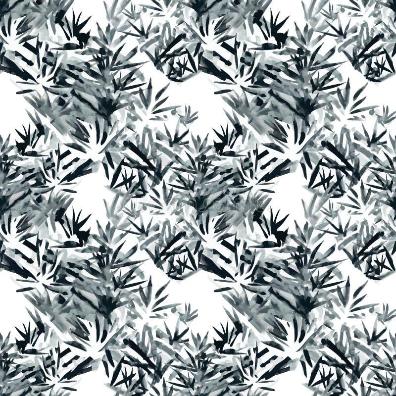 Waterverf vector naadloos patroon met Lavendel Hand het schilderen watercolor vector illustratie