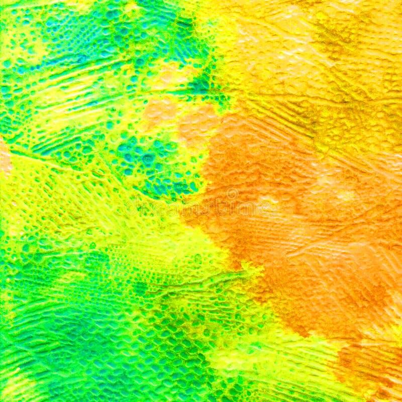 Waterverf volumetrische textuur voor de achtergrond De lente De herfst Abstracte hielkleuren en vlekken De kleur vult royalty-vrije illustratie