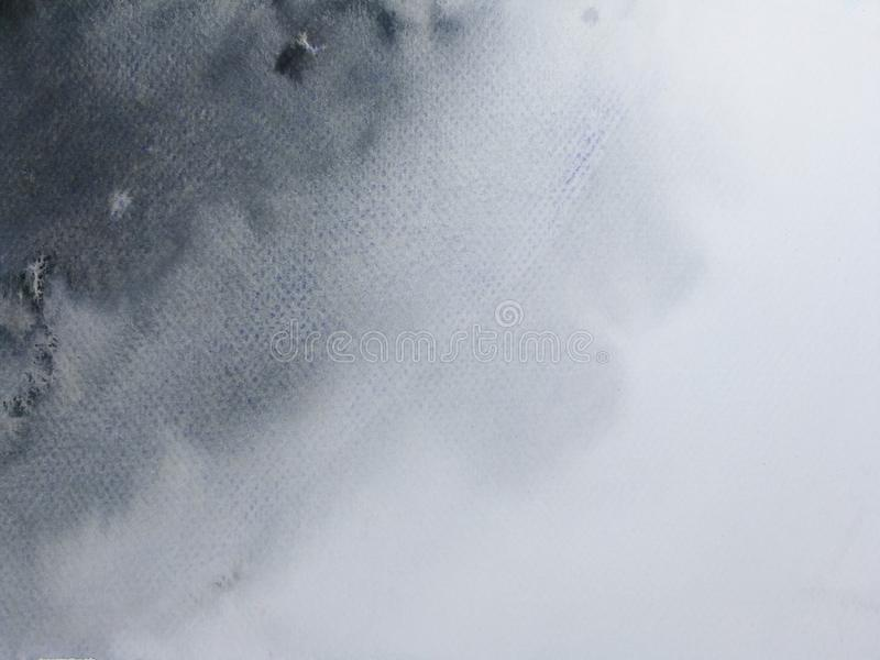 Waterverf zwarte hand als achtergrond die op papier wordt getrokken vector illustratie