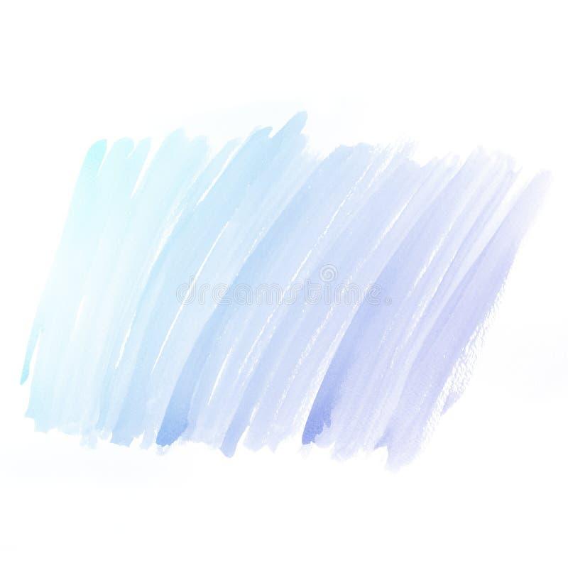 Waterverfachtergrond. de kleurrijke blauwe verf van de waterkleur royalty-vrije stock foto's