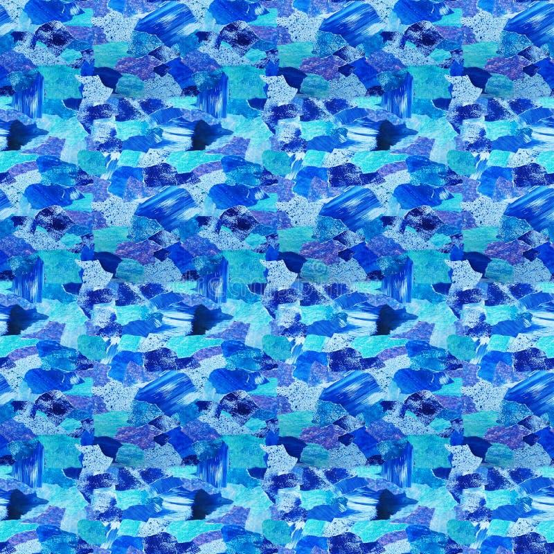 Waterverfachtergrond en textuur, van een inzameling van waterverfdocument stock illustratie