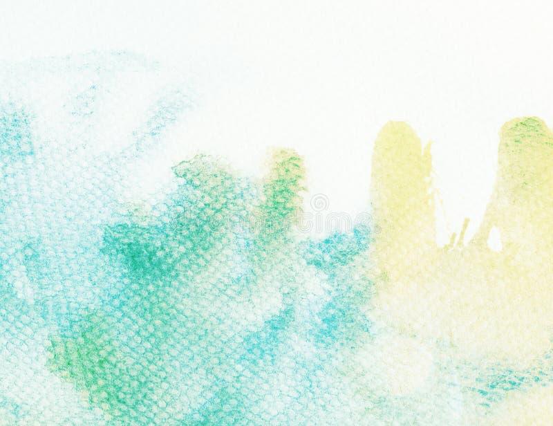 Waterverfachtergrond met gelekte verf vector illustratie