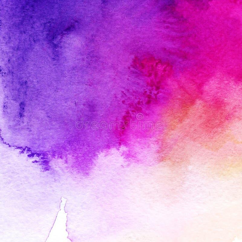 In waterverfachtergrond, roze en marinepurple Groot ontwerpelement voor brochure, banner, dekking, boekje, UI, UX royalty-vrije illustratie