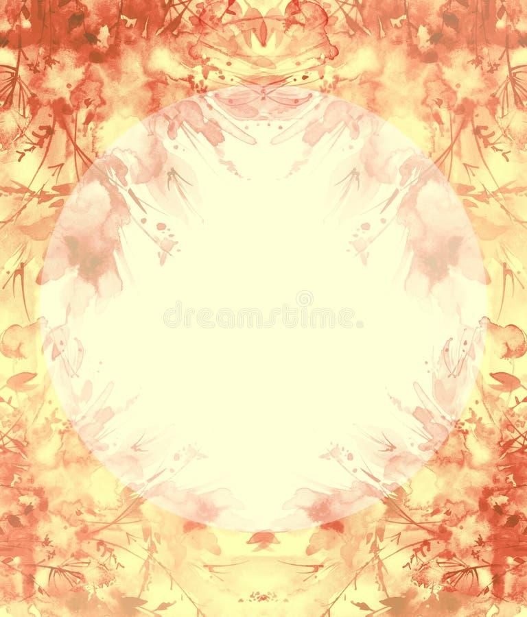 Waterverfboeket van bloemen, Mooie abstracte plons van verf, manierillustratie Orchideebloemen, papaver, korenbloem stock illustratie