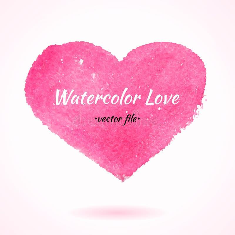 Waterverfhand Getrokken Vectorhart royalty-vrije illustratie