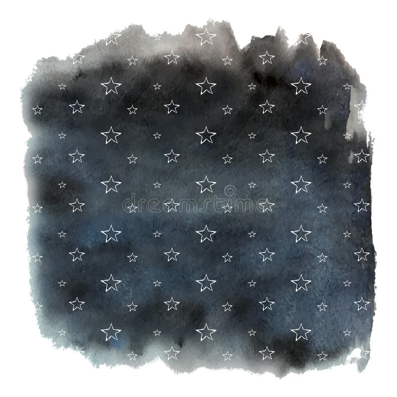Waterverfhemel royalty-vrije illustratie