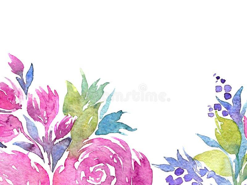 Waterverfillustratie van bloemen vector illustratie