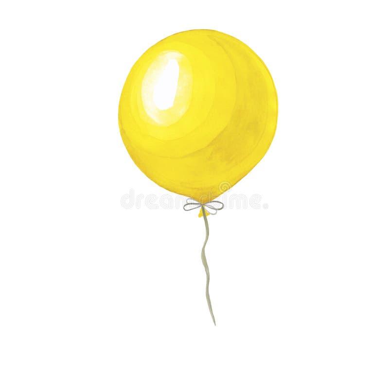 Waterverfillustratie van een ballon stock afbeelding