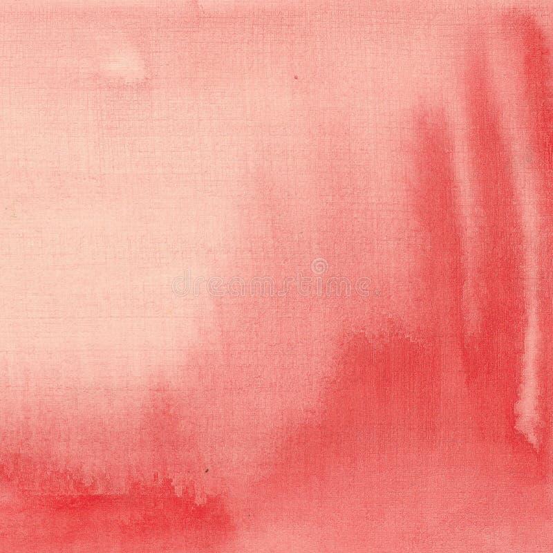 Waterverfkoraal als achtergrond, rood met scheidingen royalty-vrije illustratie